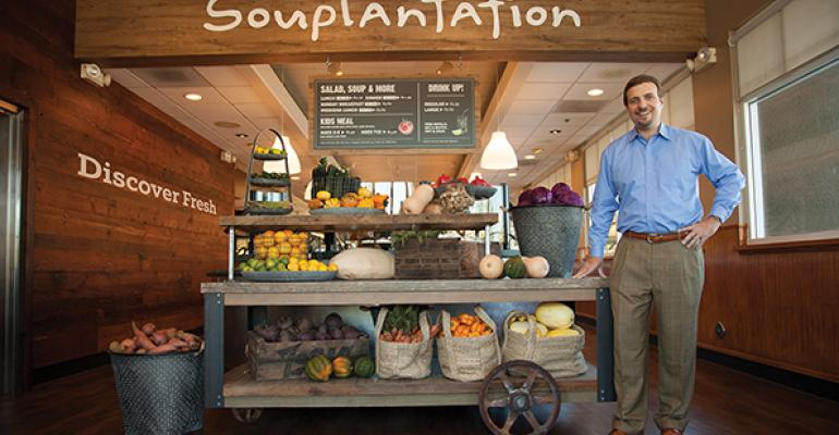 CEO John Morberg at a remodeled Souplantation unit