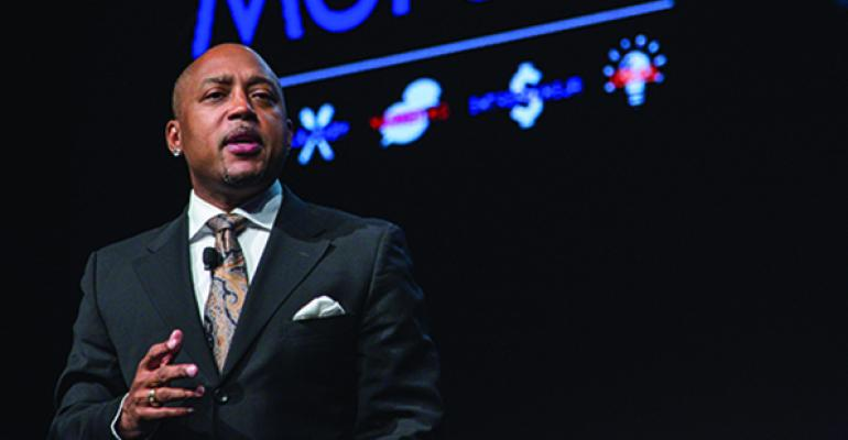 Daymond John delivers a keynote address at MUFSO