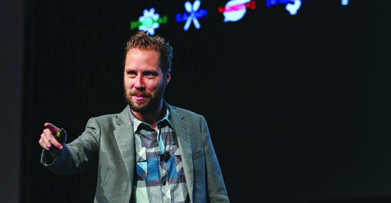 Jeremy Gutsche delivers a keynote address at MUFSO