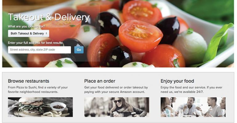 Amazon tests restaurant delivery service