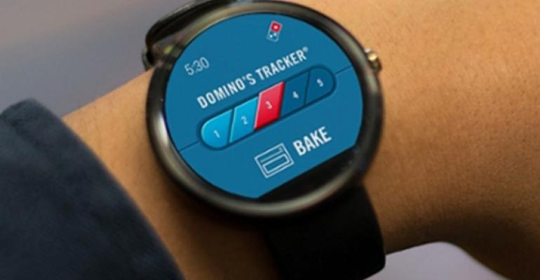 Domino39s customers can now track and place their order on Android Wear pictured and Pebble smartwatches