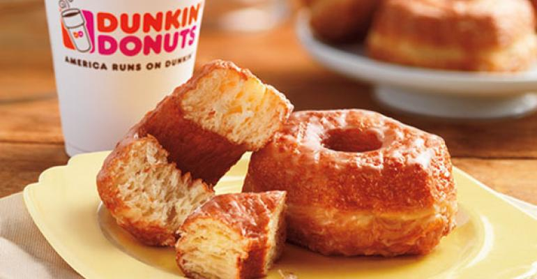 Dunkinrsquo Brands CEO Nigel Travis credited the strong start to the year to new products and limitedtime offers like the Croissant Donut