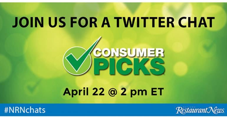 Follow NRN's Twitter chat with winning brands from the 2015 Consumer Picks survey