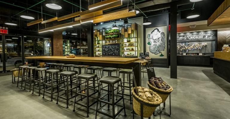 Starbucks location in the Williamsburg neighborhood of Brooklyn offers regular tastings of Starbucks Reserve coffees