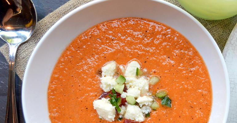 Chefs add creative touches to gazpacho