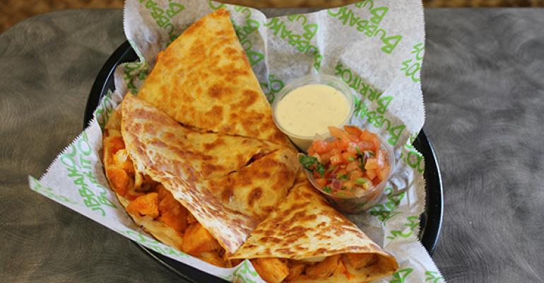 Bubbakoorsquos buffalo chicken quesadilla