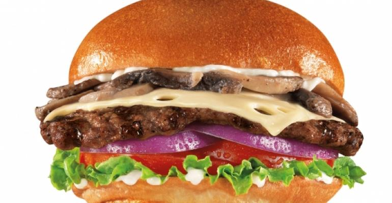 Carls Jr Mushroom  Swiss AllNatural Burger