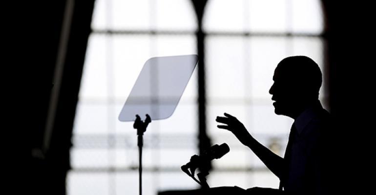 President Obama speaks on raising the minimum wage at he University of Michigan