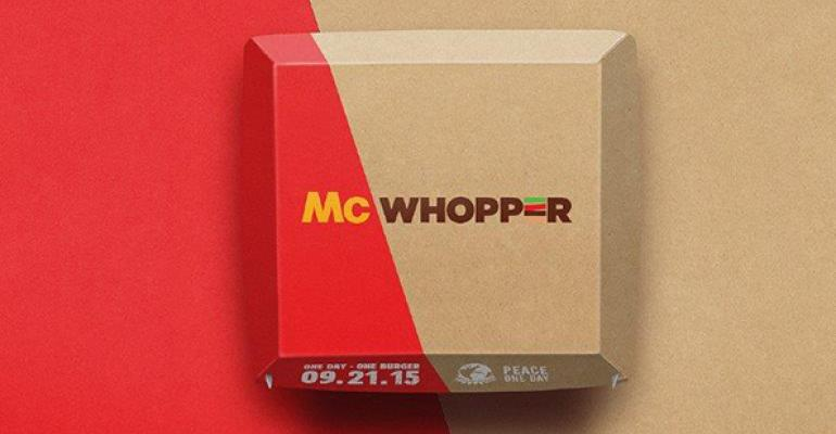 Burger King to McDonald's: Can't we just get along?