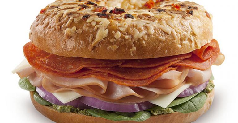 Italiano Grilled Bagel Sandwich