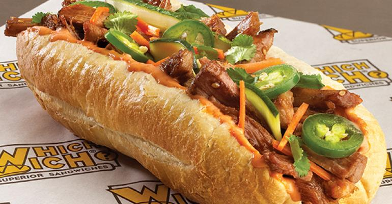 Which Wichs Pulled Pork Banh Mi