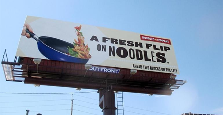 Noodles  Company billboard for real food campaign