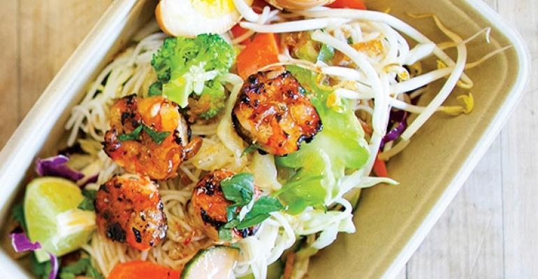 Asian Box Lime Basil Shrimp
