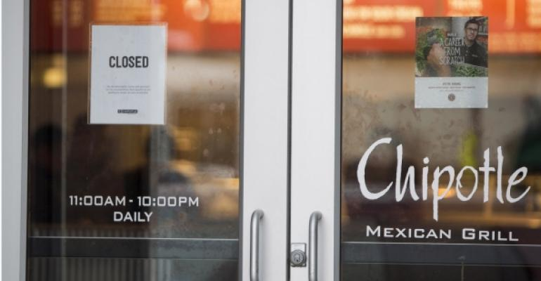 A Chipotle unit in Boston was closed Dec 8 after a norovirus associated with a Chipotle restaurant there sickened dozens of local students
