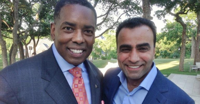 Plano Texas Mayor Harry LaRosiliere and Sunil Dharod