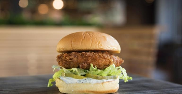 Chickn Shack chicken sandwich
