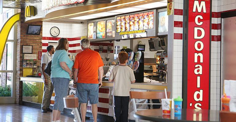 McDonalds restaurant customers