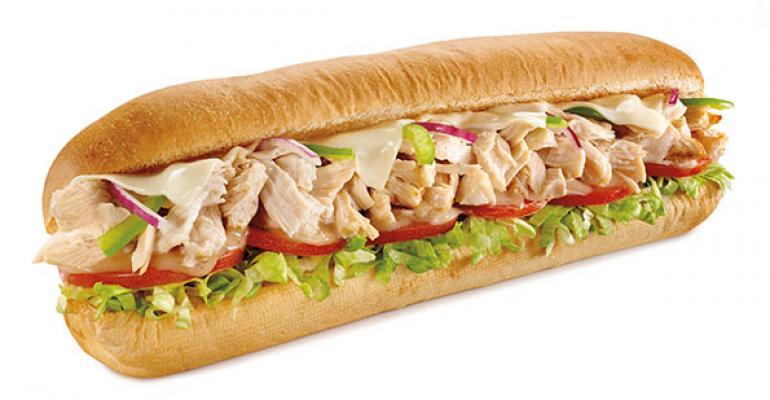 Subway rotisserie chicken sandwich