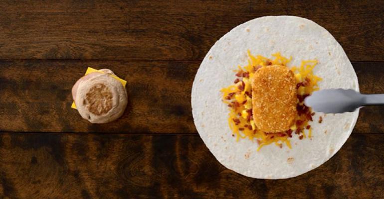 Taco Bell breakfast crunchwrap