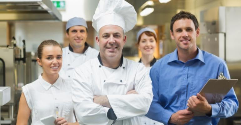 restaurant chef and workers