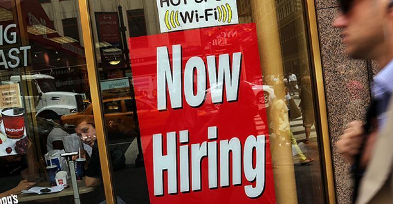 fast food hiring sign