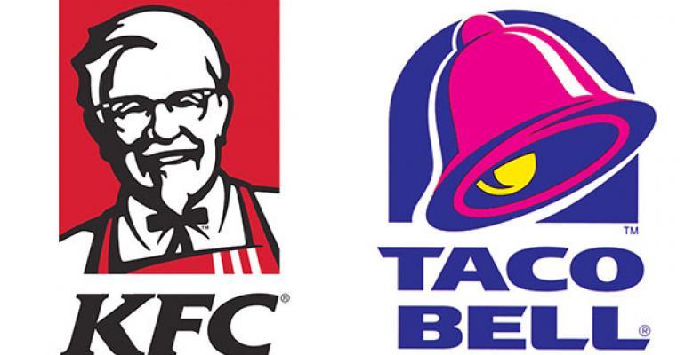 KFC Taco Bell logos