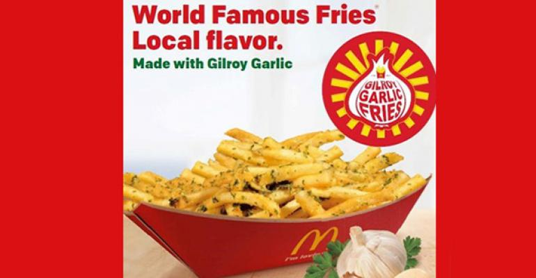 McDonalds Gilroy Garlic Fries