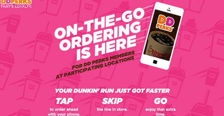 Dunkin Donuts OnTheGo mobile ordering