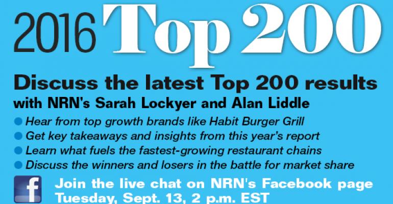 Facebook chat: Behind NRN's Top 200 restaurant chains