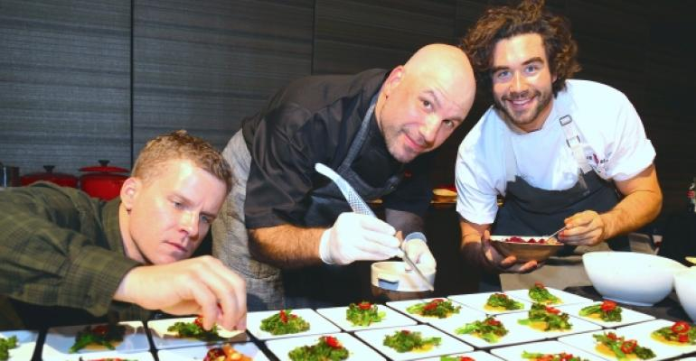 Hot Concept award winners were celebrated at a reception where MUFSO showgoers sampled dishes from the restaurants Pictured above Little Beet39s Andy Duddleston Geoffrey Kornberg and Gabe Kennedy