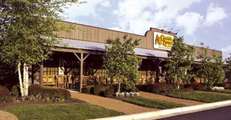 Cracker Barrel 1Q same-store sales rise, but retail suffers