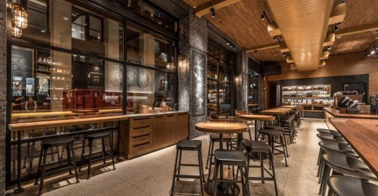 The traditional Starbucks store is being upgraded as in this one at 10 Waverly Place in New York City Photos courtesy of Starbucks