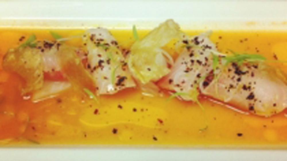 Cobia aguachile sashimi