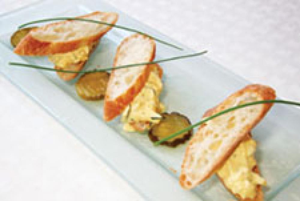 Dish of the Week: Pickled-pepper Deviled Egg Sandwich