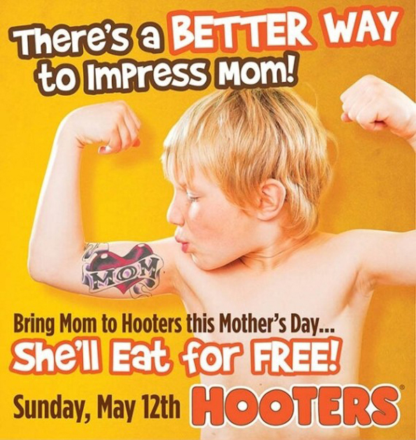 Hooter's Mother's Day ad