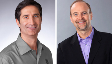 Brian Niccol (left), president of Taco Bell, and Chris Brandt, chief marketing officer.