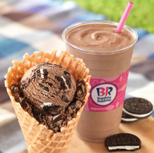 Baskin-Robbins' flavor of the month is Oreo 'N Chocolate