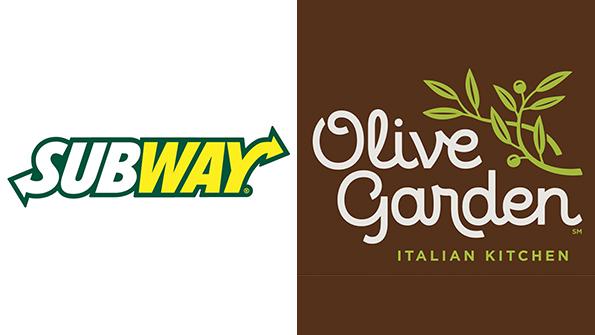 Subway Olive Garden Top Midyear 39 Buzz 39 Rankings Nation