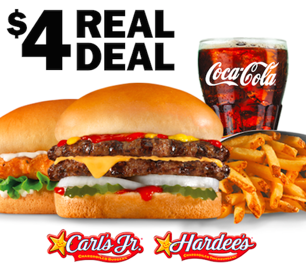 $4 Real Deal Hardee's Carl's Jr.