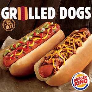 Burger King hot dogs
